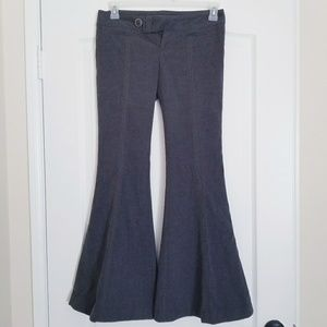 Free People bell bottom charcoal pants